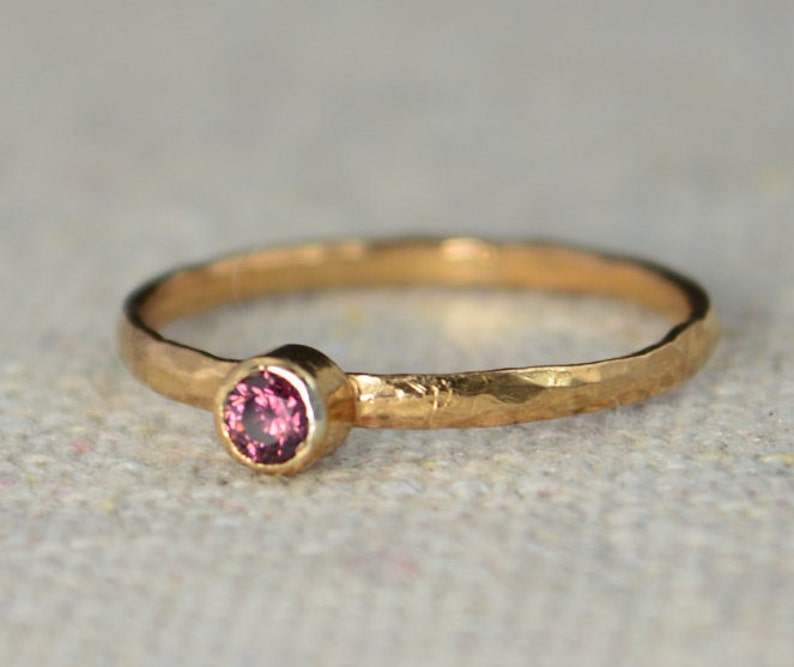 Classic Rose Gold Filled Alexandrite Ring solitaire image 0