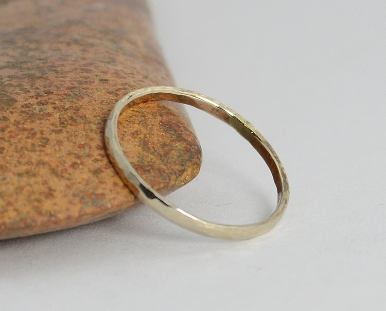 Classic Solid 14k White Gold Stacking Ring White Gold Band image 0