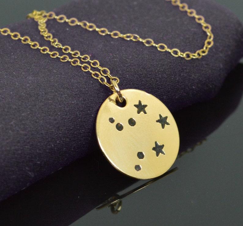 Libra Pendant 14k Gold Filled Libra Necklace Zodiac image 0