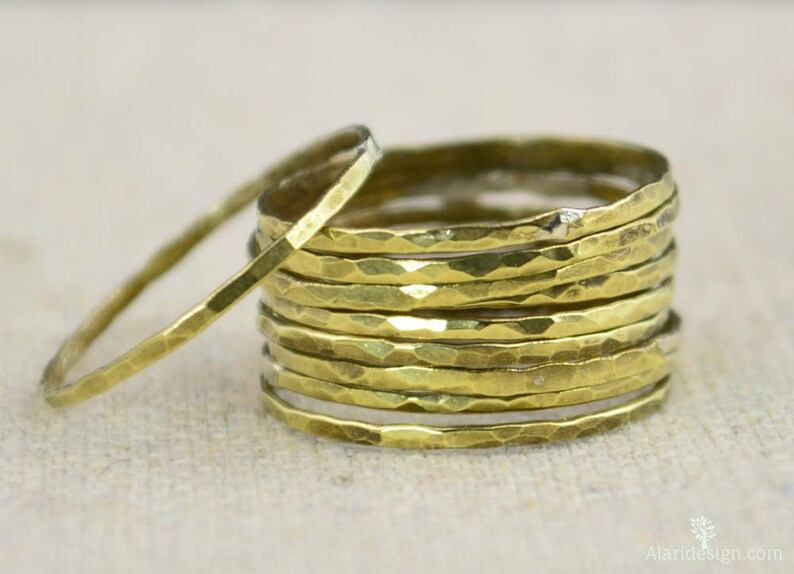 Super Thin Brass Stacking RingsBrass RingsBrass Ring image 0