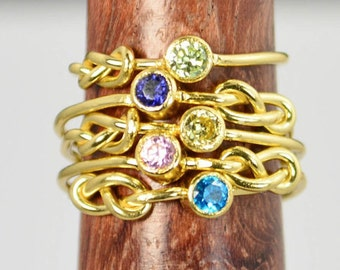 Grab 5 14k Gold Filled Infinity Ring, Gold Filled Ring, Stackable Rings, Mother Ring, Birthstone Ring, Gold Infinity Ring, Gold Knot Ring