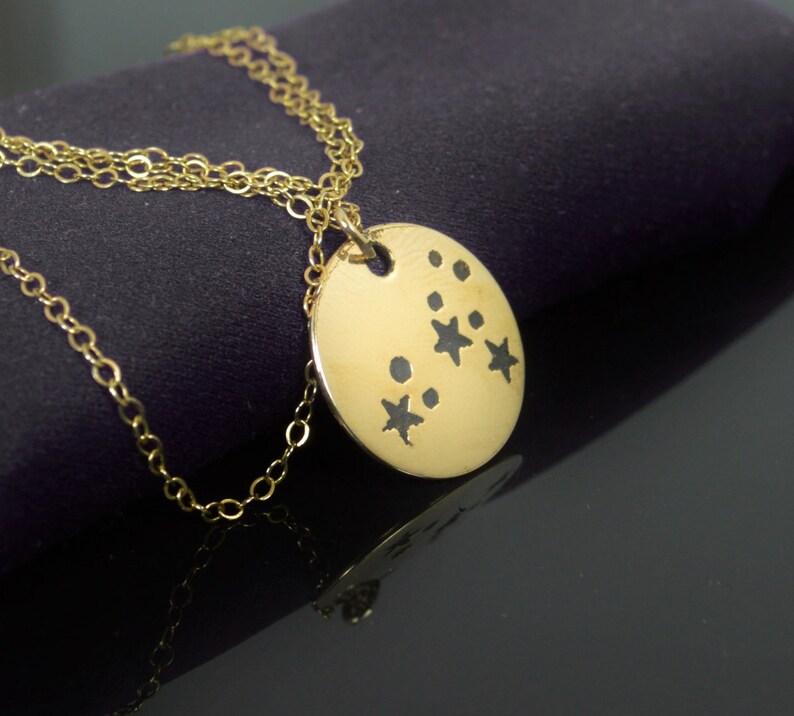 14k Gold Filled Leo Necklace Gold Leo Necklace Gold filled image 0