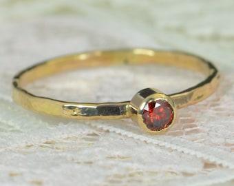 Garnet Engagement Ring, 14k Gold, Garnet Wedding Ring Set, Rustic Wedding Ring Set, Natural Garnet Ring, Solid 14k Garnet Ring