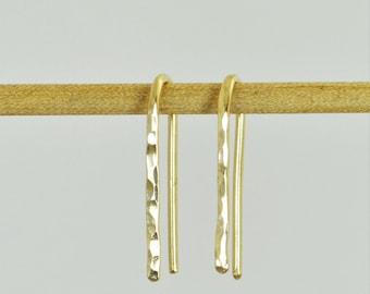 Gold Open Hoop Earrings, Horseshoe Earrings, Arc Earrings,Simple Earrings,14K Gold Filled,Gold Arc Earrings,Gold Open Hoop,Minimal Earrings