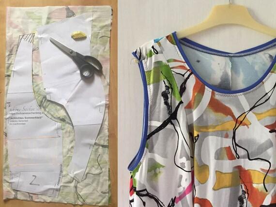 Kleid Größe 46-56 große Größen ärmellos Teilungsnähte | Etsy