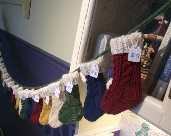 Mini Stocking Advent Garland