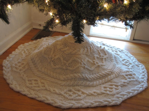 Cable Tree Skirt Knitting Pattern - Cable Tree Skirt Knitting Pattern Etsy