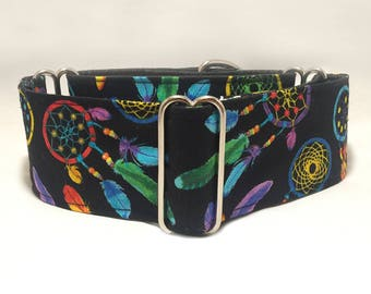 1.5 or 2 inch Martingale Collar, Dreamcatcher Dream Catcher Graphics Martingale Collar, Greyhound Martingale Collar, Dog Martingale Collar