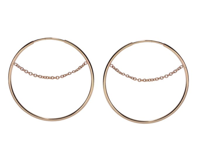 Featured listing image: Chained hoop earrings