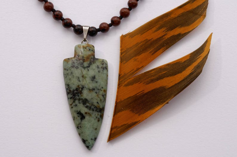 Father/'s Day Gift Unique Bow Hunter Necklace with Arrow Head Pendant