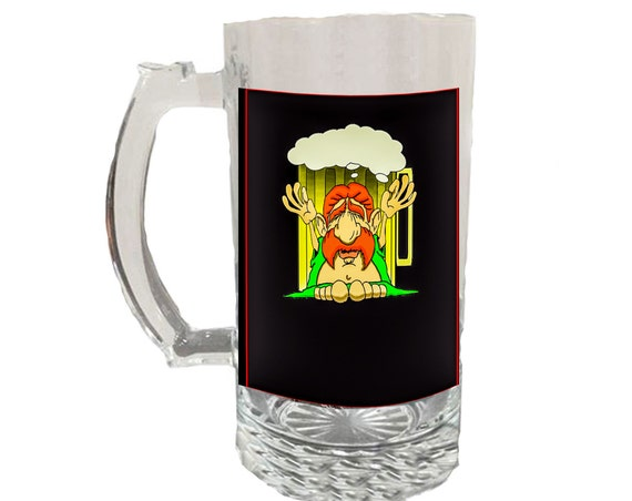 Glass Beer Stein - Buddha