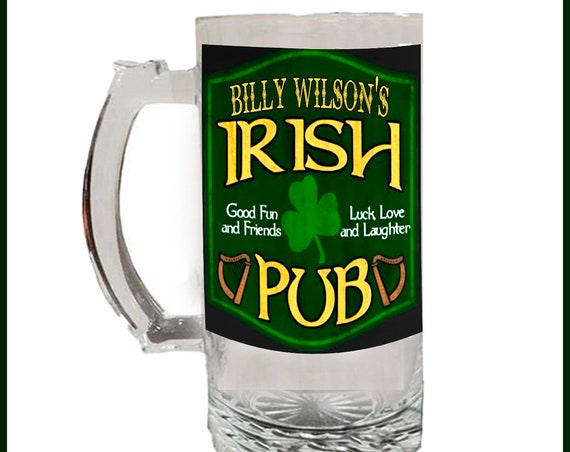 Glass Beer Stein - Irish