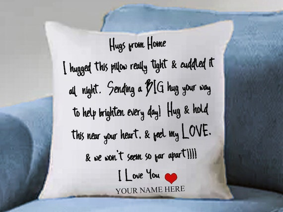 Hand-Sewn Pillow Sham / Hugs from Home