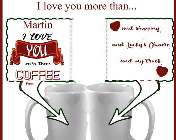 Personalized Coffee Mug 11oz-I love you more than...