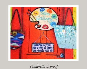 Puzzle 110 -Cinderella Shoes - Design Your Own Puzzle