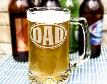 Glass Beer Stein - Clear - 20oz