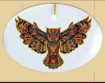 Glass Suncatcher - sm  Owl