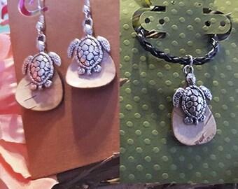 Birch Bark w/Turtle - Necklace &/or Earrings