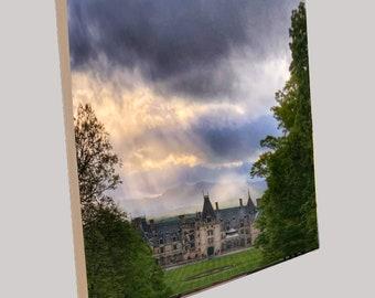 "Natural Wood Photo Panels - 5/8"" Thick, Beveled Edges and Keyhole Back"