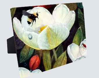 """Ceramic Photo Panels - 8""""x10"""" - Cardinal- Drangonfly - Mystic Mooring - Welcome Guest - White Birch -Orange Lily"""