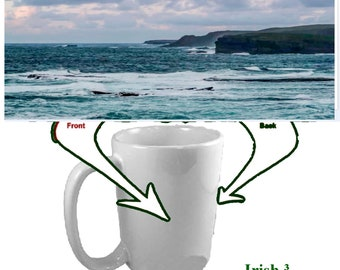 Irish Pictures - 8 Beautiful Photographs for Your Irish Coffee Mug - 15oz