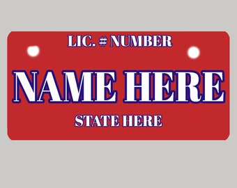 """Vanity License Plates for Motorcycles, ATV'S, and Bicycles. Custom Designed - 4"""" x 7"""" - medium"""