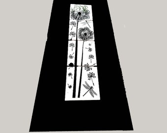 Dandelions & Dragonflies -Wall Decor - Photo Print on Ceramic Tiles -Framed