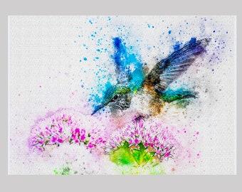 "Aluminum Photo Panel - Hummingbird - 11""X 14"""