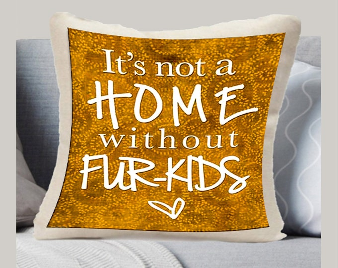PILLOW SHAM - Your favorite Message on a Pillow - Flamingo - Flying Monkeys - Crazy Family - Fur Kids - Good Vibes -My Shepherd -2020