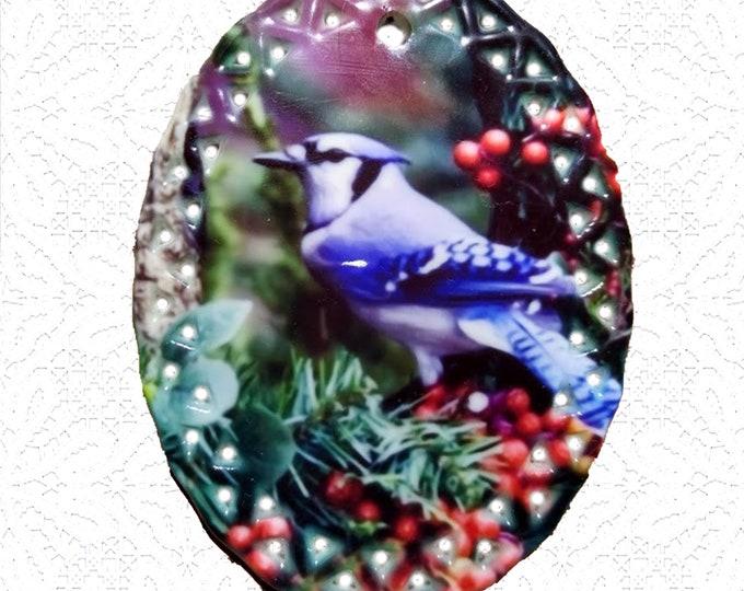Memorial Ornament - Porcelain Oval Doily