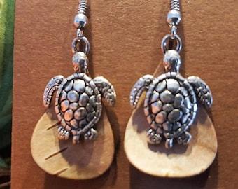 EARRINGS -Birch Bark Turtle earrings
