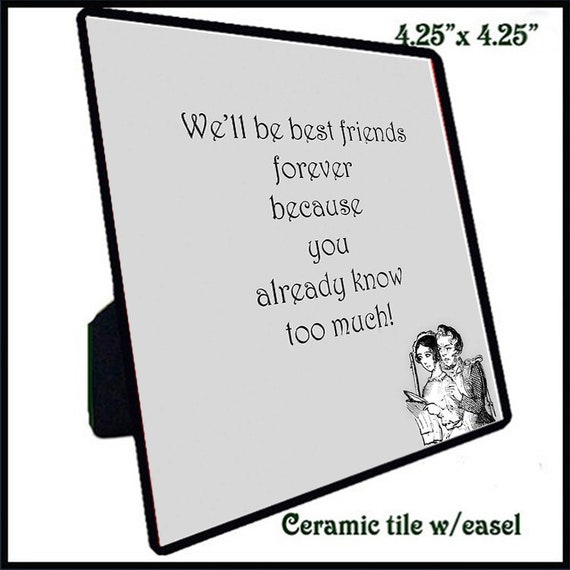 Quotation Tiles - Best Friends 1-10