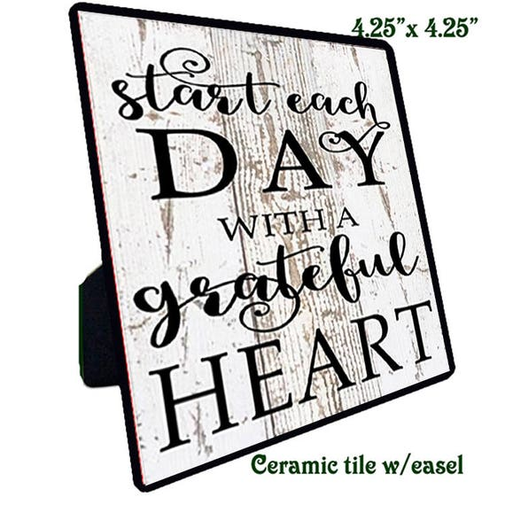 Quotations - Ceramic Tile - Grateful Heart