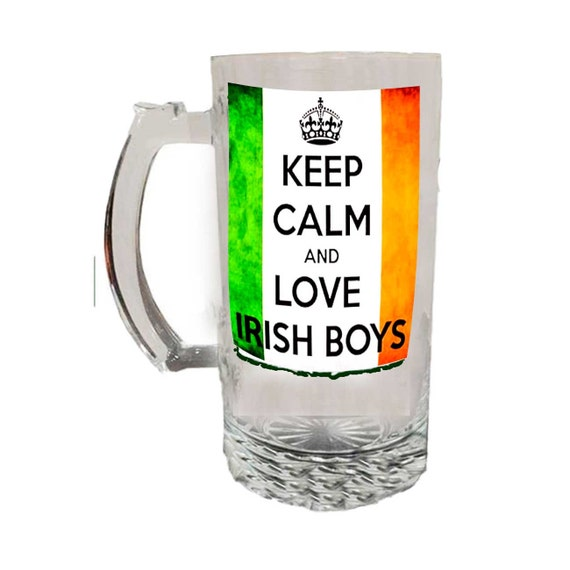 Glass Beer Mug - Irish