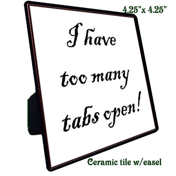 Quotations - Ceramic Tile - Tabs Open