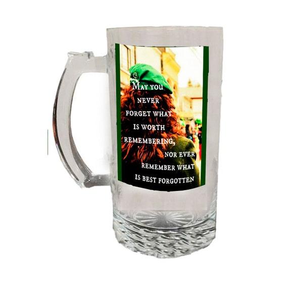 Glass Beer Stein  - Irish