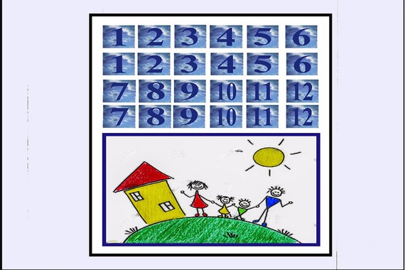 Classic Game - Concentration/Memory Tile Game - Numbers