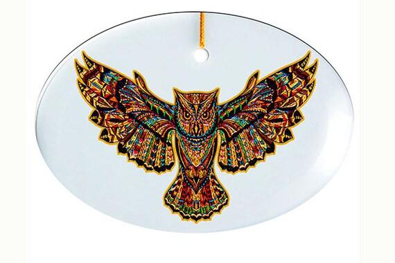 Glass Suncatcher - lg  Owl