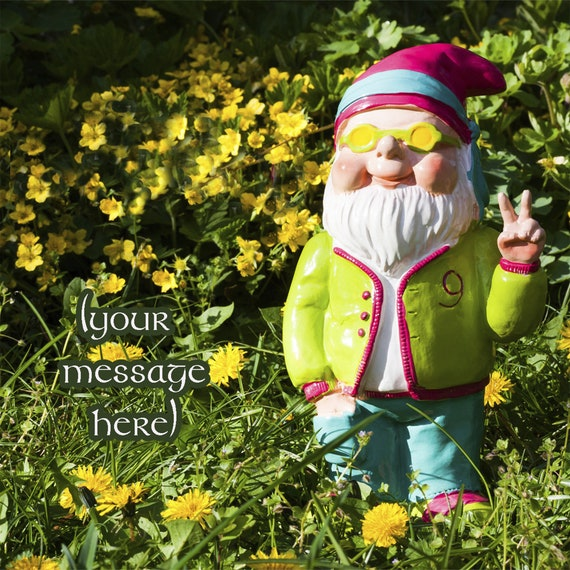 Gnome Ceramic Message Tiles