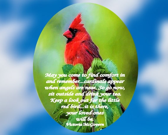 Memorial Suncatcher - Cardinal - Red Bird - Large or Small - With or Without Poem