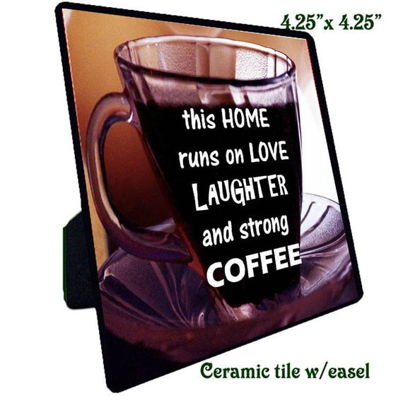 Quotations - Ceramic Tile -Coffee 1