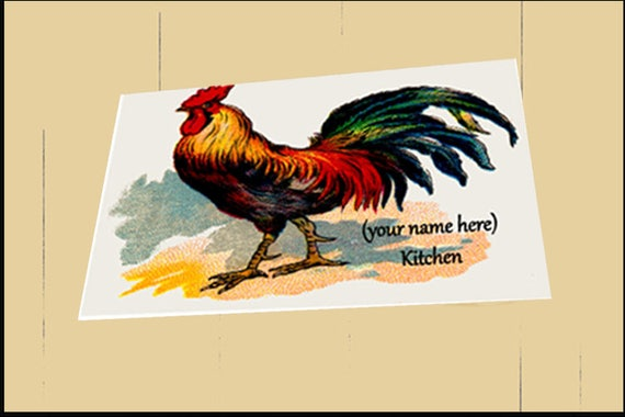 Cutting Board -Glass -Rooster