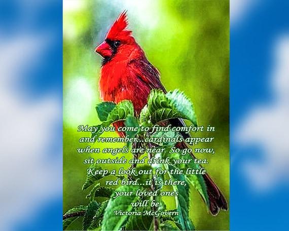 Glass Memorial Suncatcher - Cardinal