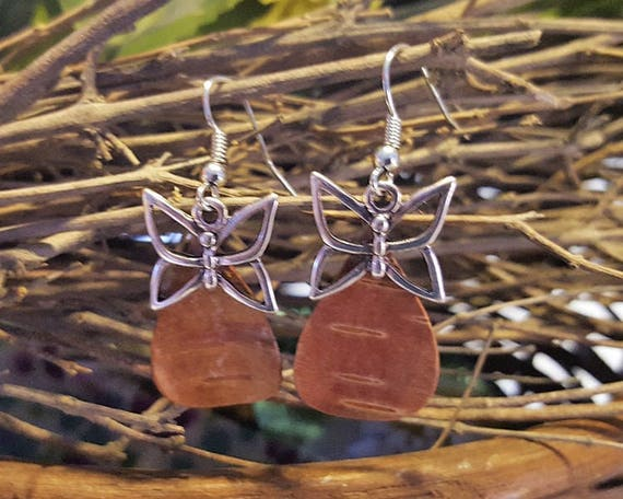 Birch Bark Butterfly Earrings