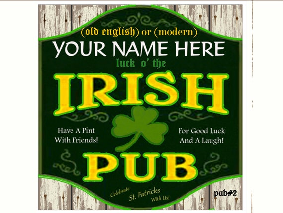St. Patrick's Irish Pub Sign