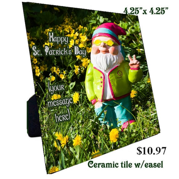 St. Patrick's Day Irish Gnome Lucky Tiles