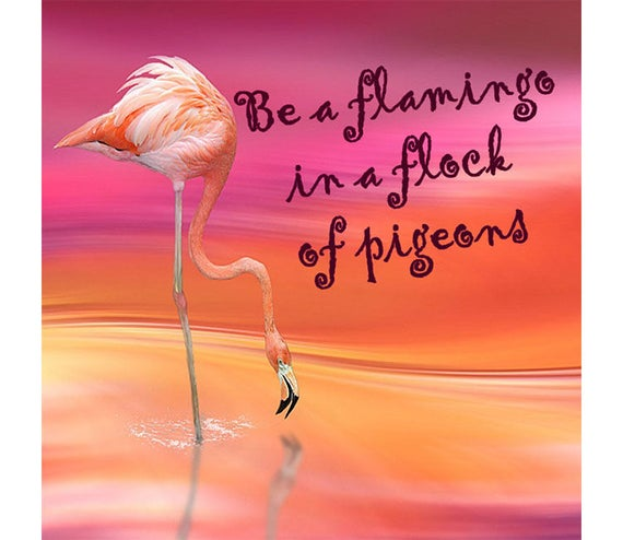 Choose from 10 Different 'Decorative Quote Tiles' on: 10 Different 'Quote Tiles' Quotations - Ceramic Tile - Be a Flamingo