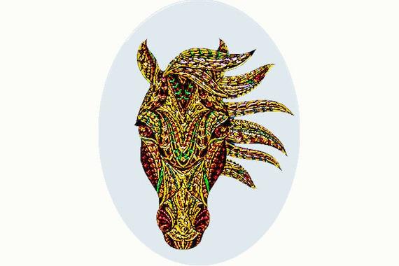Glass Suncatcher - sm Horse