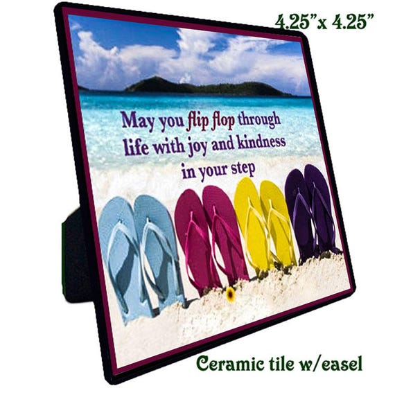 Quotations - Ceramic Tile - Flip Flop