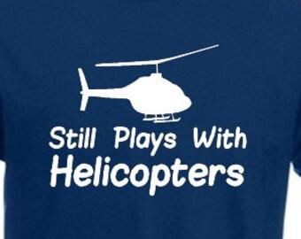 I LOVE MY HELICOPTER Men/'s T-SHIRT joke funny pilot gift birthday rc model